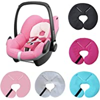 Aveanit Compatible with Maxi-Cosi Pebble Head Hugger Support Baby Car Seat Head Supports Newborn Baby Headrest Foam Pillow (Black)