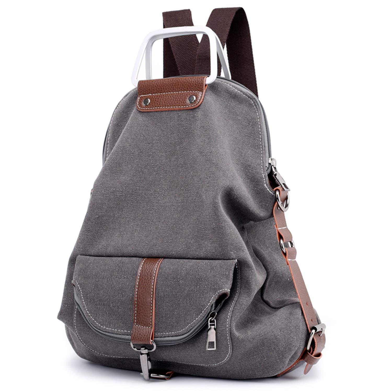 039bf5a1ffa56 Travistar Rucksack Damen Handtasche Schultertasche Canvas Schultasche  Reiserucksack für Frauen