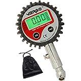 VERGO Digital däcktrycksmätare – kraftig – 6,35 cm diameter huvud – flera enheter-0-14 bar/0-200 PSI-bakgrundsbelyst LCD-disp