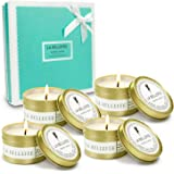 LA BELLEFÉE Scented Candles, Natural Soy Wax Travel Tin, Aromatherapy Candles Gift Set for Wedding, Festival - Lemongrass Ber
