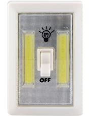 Ascension 2W 240 Lumens COB LED Wall Switch Lights with Emergency Battery Operated (White)