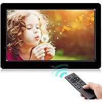 Digitaler Bilderrahmen,Neuestes UI-Design YENOCK 8,2 Zoll 1280 x 720 Voll IPS-Foto- / Musik- / Videoplayer-Kalenderalarm…
