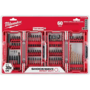 Red Milwaukee 4932430906 Shockwave Impact Driver Bit Set 48 Piece