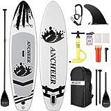 Stand Up Paddle,Tabla de Paddle Surf,Sup Hinchable Ultraligero (7.89kg) con Mochila Gratis,Bolsa Impermeable para Teléfono Mó