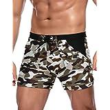 COOFANDY Men's Swim Trunks Summer Beach Swimwear Camo Quick Dry Surfing Shorts with Pockets