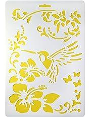 Stencil Plastic Flower 2 Set
