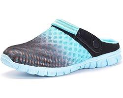 Zuecos Hombres Mujeres Unisex Zapatillas de Playa Sandalias Piscina Vernano Zapatos de Jardín Respirable Malla Casual Pantufl