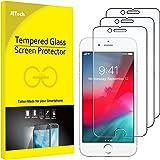 JETech Film de Protection d'écran pour Apple iPhone 6, iPhone 6s, iPhone 7, iPhone 8 en Verre Trempé, Lot de 3
