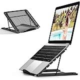 Jumkeet Support Ordinateur Portable, Support PC Portable Ventilé, Laptop Stand Réglable Ergonomique Léger Table de Lit Pliabl