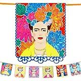 Talking Tables- Guirlande imprimée Frida Kahlo-3m fête Boho aux Couleurs Vives pour Anniversaire, Fiesta, célébration Mexicai