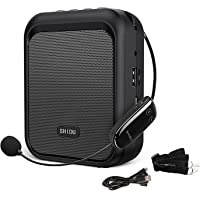 SHIDU Sprachverstärker Tragbarer Bluetooth Lautsprecher mit drahtlosem UHF Mikrofon Headset 10W 1800mAh PA-System…