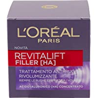 L'Oréal Paris Crema Viso Giorno Revitalift Filler, Azione Antirughe Rivolumizzante con Acido Ialuronico Concentrato, 50…