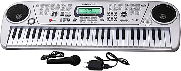 EDUVILLE 54 Keys Musical Keyboard Piano with Microphone