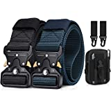 BESTKEE Cintura tattica da uomo da 1,5 pollici ad alte prestazioni, cintura in nylon con fibbia in metallo a sgancio rapido,