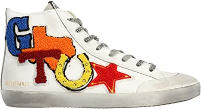 Golden Goose Luxury Fashion Uomo G36MS591C67 Bianco Pelle Sneakers | Ss21