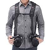 Tracolla doppia fotocamera imbracatura doppia fotocamera cinghia da polso e di sicurezza cinghia regolabile a rilascio rapido