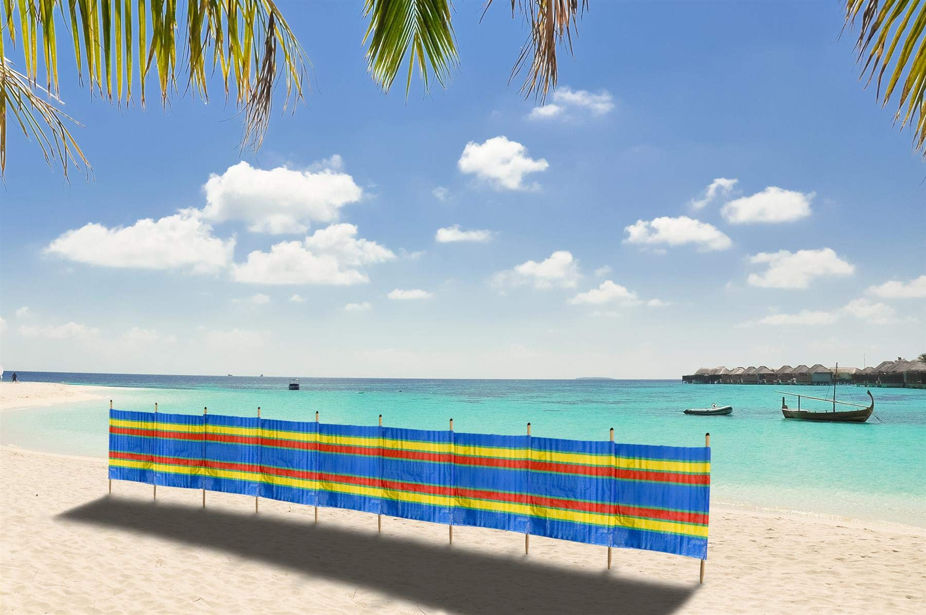 Vinsani® 4, 5, 6, 8, 10 POLE BEACH HOLIDAY CARAVAN CAMPING WINDBREAK TALL WINDBREAKERS 2