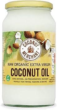 Olio di Cocco Biologico Extra Vergine 1L | Crudo e Spremuto a Freddo | Organico e Puro al 100% | Ideale sui Capelli, sul Corp