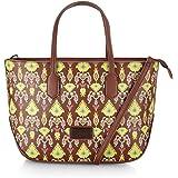 Caprese Ikat Women's Medium Tote Bag (Brown)