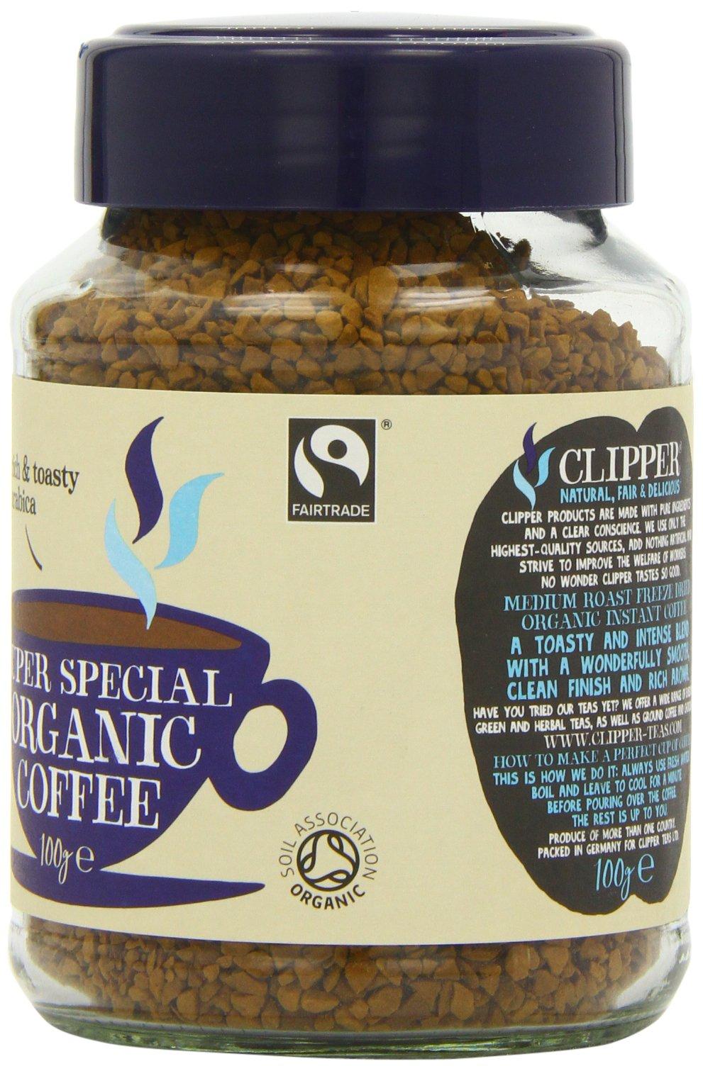 Clipper Organic Medium Roast Arabica Coffee 100g (Pack of 6)