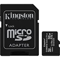 Kingston Canvas Select Plus SDCS2/32GB Scheda microSD Classe 10 con Adattatore SD Incluso, 32 GB