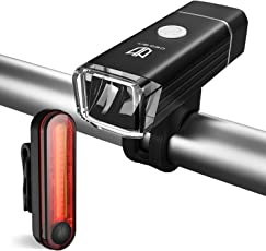 Degbit Unisex Adult l-2 Bike Light, Black, 1