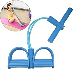 Fitsy Latex Pull Rope Ab Exerciser Tummy Trimmer for Women, Standard (Blue, AND06165)
