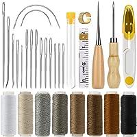 COSYLAND Ensemble d'Outils de Couture 29 in 1 Kit Outils Couture Cuir Kit de Réparation Cuir À La Main Artisanat Kit…