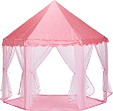 NHR Novely Kids Indoor and Outdoor Play Tent Castle- Pink