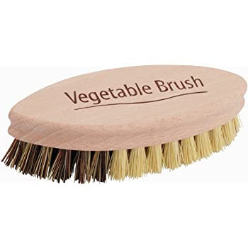 Natural Bristle Vegetable Brush With English Text by Redecker