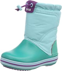crocs Unisex-Kinder Crocband LodgePoint Boot Kids Schneestiefel, Candy Party Pink 6lr