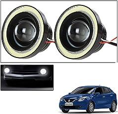 Vheelocityin 2Pc 3.5Inch Car Fog Lamp Angel Eye DRL Led Light For Maruti Suzuki New Baleno 2015