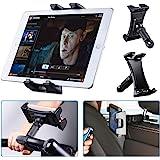 Tendak Exercise Bike Tablet Holder, Portable Car Headrest Treadmill Exercise Gym Handlebar Microphone Stand Mount 360° Adjust