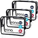 Eono by Amazon - Beauty Case da Viaggio Clear Borsa da Viaggio Impermeabile Cosmetici Trousse Trasparente Toiletry Bag Kit da