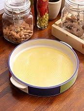 VarEesha Ceramic Pizza Plate, Yellow
