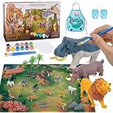 Eala Arts et Artisanat Ensemble Figurines animales Jouets kit de Peinture pour Enfants garçons Filles Cadeau d'anniversaire
