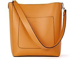 BROMEN Handtasche Damen Schultertasche Umhängetasche Leder Groß Shopper Damen Designer Tasche Beuteltasche mit 2 Trageriemen