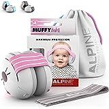 Alpine Muffy Baby Orejeras para bebés - Orejeras para bebés y niños de hasta 36 meses - Previene daños auditivos - Mejora el