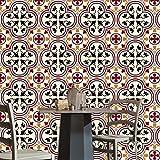 20 stück Fliesenaufkleber für Küche und Bad | verschiedene Mosaik wandfliesen aufkleber für 20x20cm Fliesen | Fliesen-Aufkleber Folie | Deko-Fliesenfolie für Küche u. Bad ( 20 stück, HL084) , 20*20cm