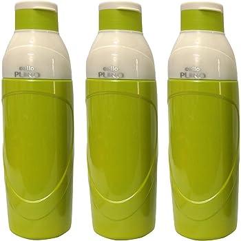 Cello PURO 900 Thermos Bottle   Set of 3 (Green)