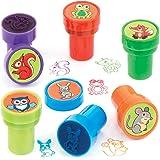 Baker Ross Tampons animaux de la forêt avec encre intégrée, jouets d'Halloween amusants à petits prix - Parfaits pour les poc