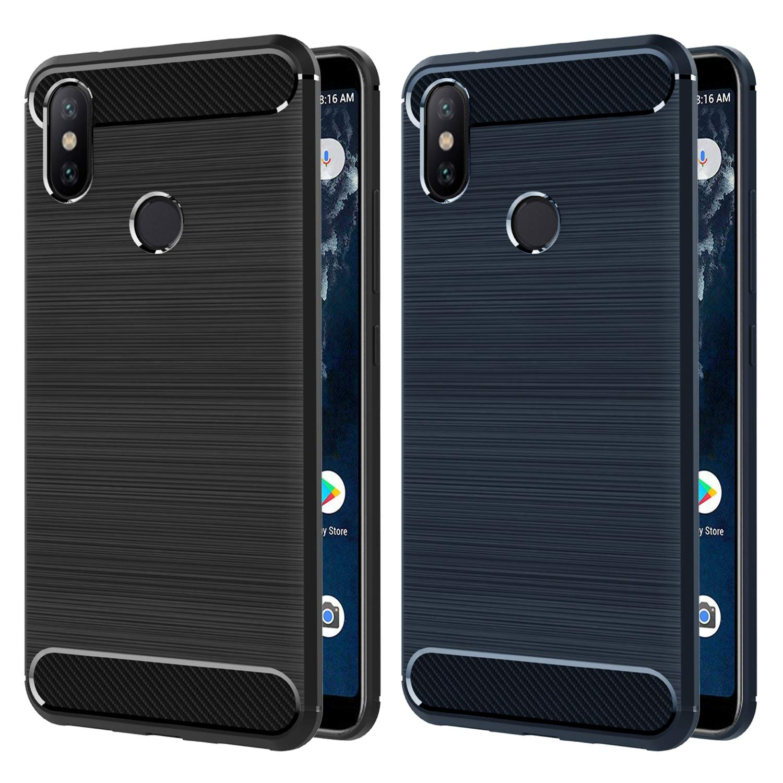 1350c8bd6cd Comprar iVoler [2 Unidades] Funda para Xiaomi Mi A2, Diseño de Fibra ...