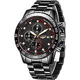 LIGE Orologio da uomo impermeabile in acciaio inossidabile orologio casual da uomo d'affari