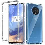 Kartronics Compatible with OnePlus 7T Transparent Bumper Shock Proof Corner Soft TPU Silicone Flexible Back Case Cover