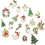 Ciondoli per Bracciali Fai Da Te,Gosear 19 pz Lega Natale Ciondolo Ornamenti Fascino Per Fai Collana Bracciale Gioielli Natal