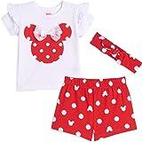 Disney Minnie Mouse Girls T-Shirt Headband & Shorts Set