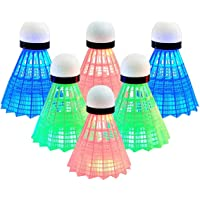 Ivyday 12pcs Badminton Plastic Shuttlecock Game Sports Training Badminton Balls for Indoor Outdoor Gym Sports Accessories