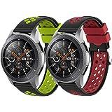 Songsier Compatible avec Bracelet Gear S3 Frontier/Galaxy Watch 3 45mm/Galaxy Watch 46mm/Gear 2 /Huawei Watch GT2 46mm/Watch