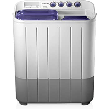 Samsung 7.2 kg Semi-Automatic Top Loading Washing Machine (WT725QPNDMP, White and Blue)
