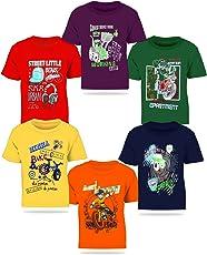 Kiddeo Boy's Cotton T-Shirt - Pack of 6